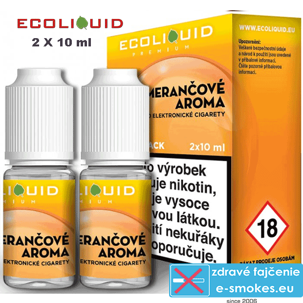 Ecoliquid e-liquid Pomeranč 2 X 10ml 20mg