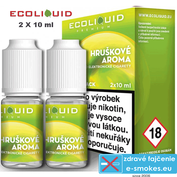 Ecoliquid e-liquid Hruška 2 X 10ml 12mg