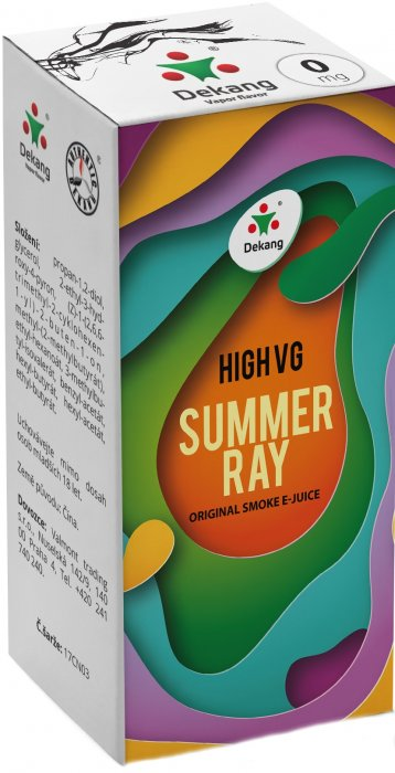 e-liquid Dekang High VG Summer Ray 10ml - 1,5mg (ovocný mix)