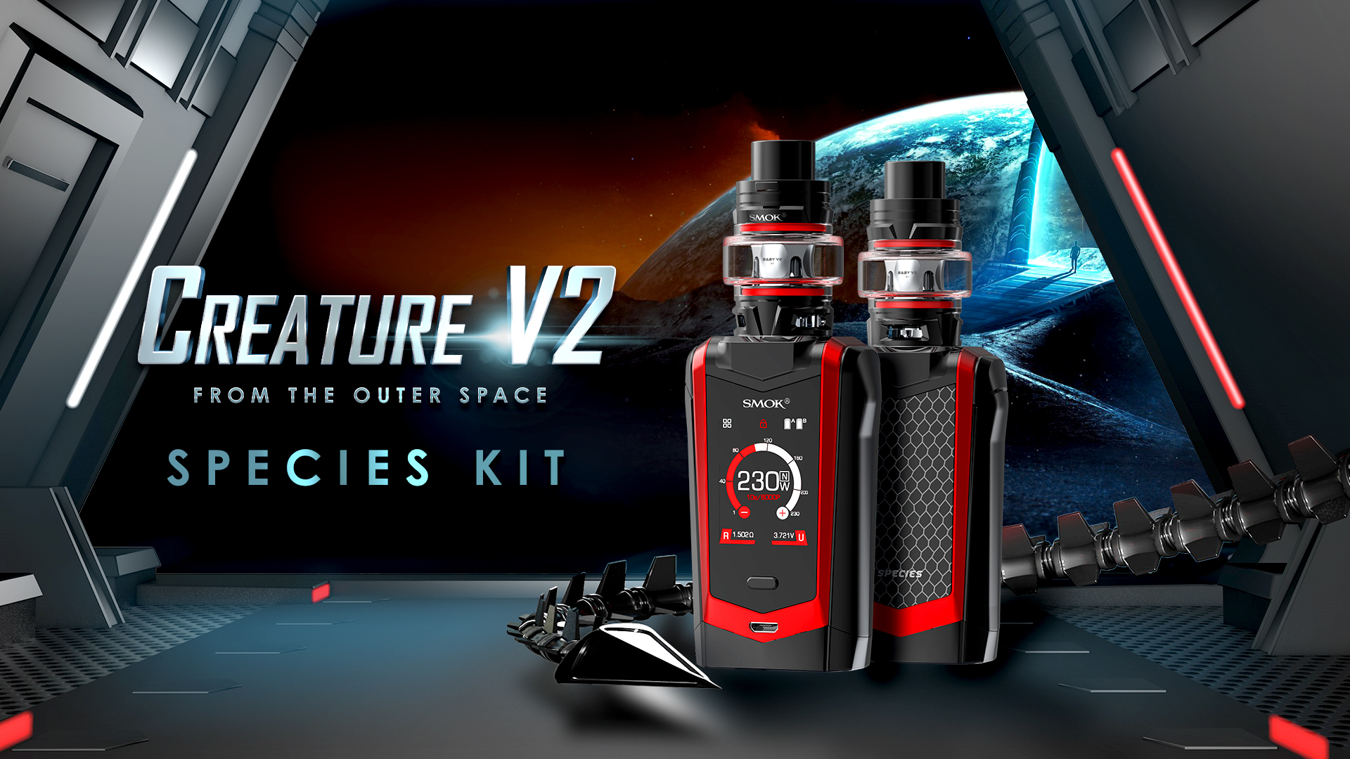 SmokTech Full Kit Species - 7Color Black