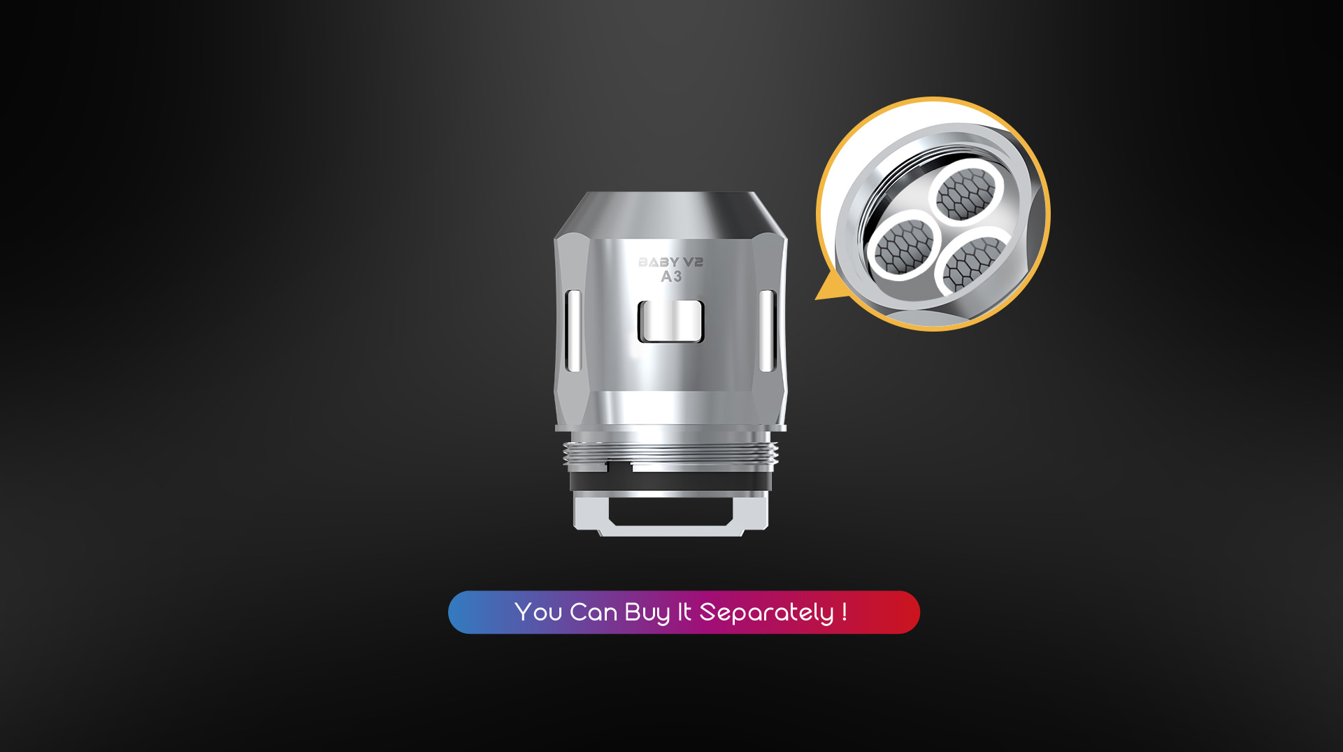 SmokTech TFV8 BABY V2 clearomizer 5ml - silver