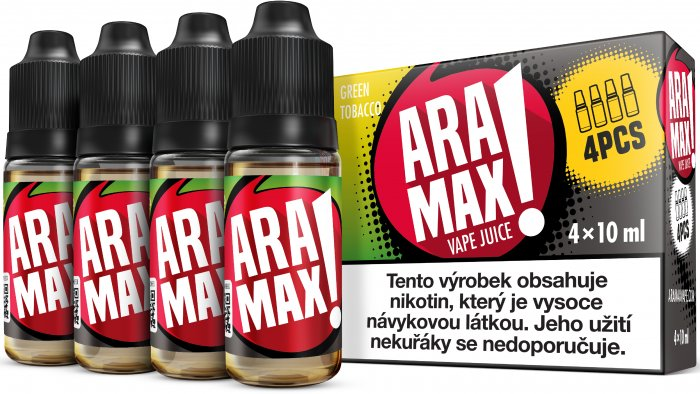 ARAMAX 4Pack Green Tobacco 4x10ml 18mg