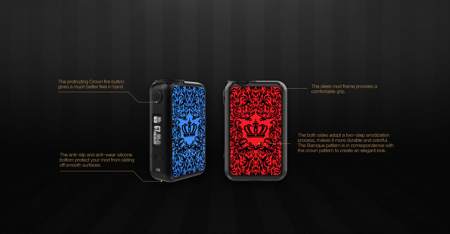 UWELL full kit CROWN 4 TC200W - Blue