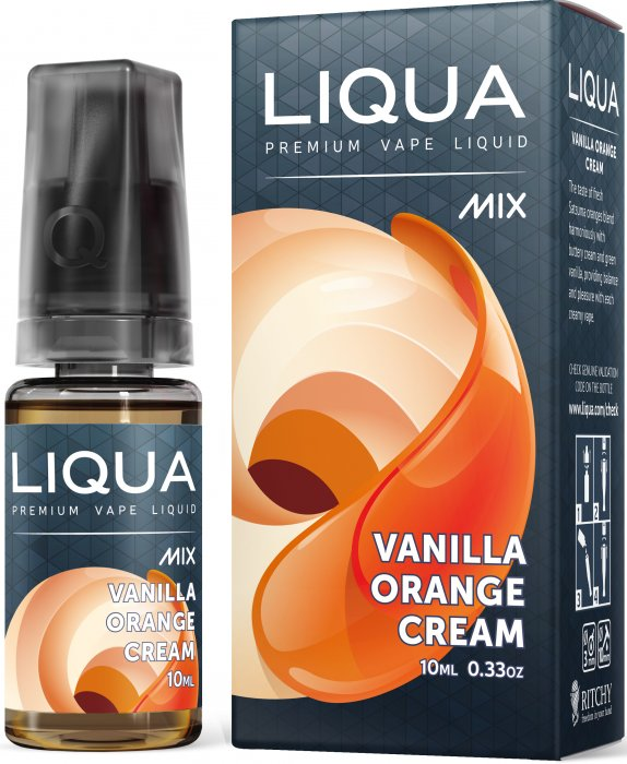 LIQUA Mix Vanilla Orange Cream 30ml 0mg nikotínu