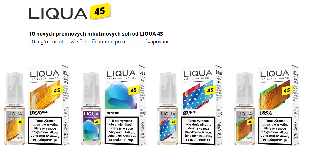 LIQUA 4S Salt Shisha Mix 10ml 20mg nikotínu