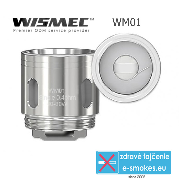 WISMEC atomizér WM01 Single - 0,4 ohm