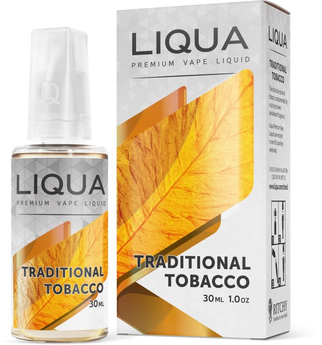 LIQUA Elements Traditional Tobacco 30ml-0mg (Tradičný tabak)