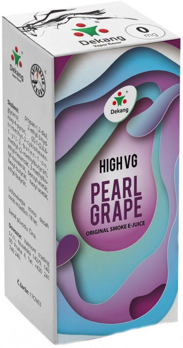 e-liquid Dekang High VG Pearl Grape 10ml - 0mg (ľadové hrozno)