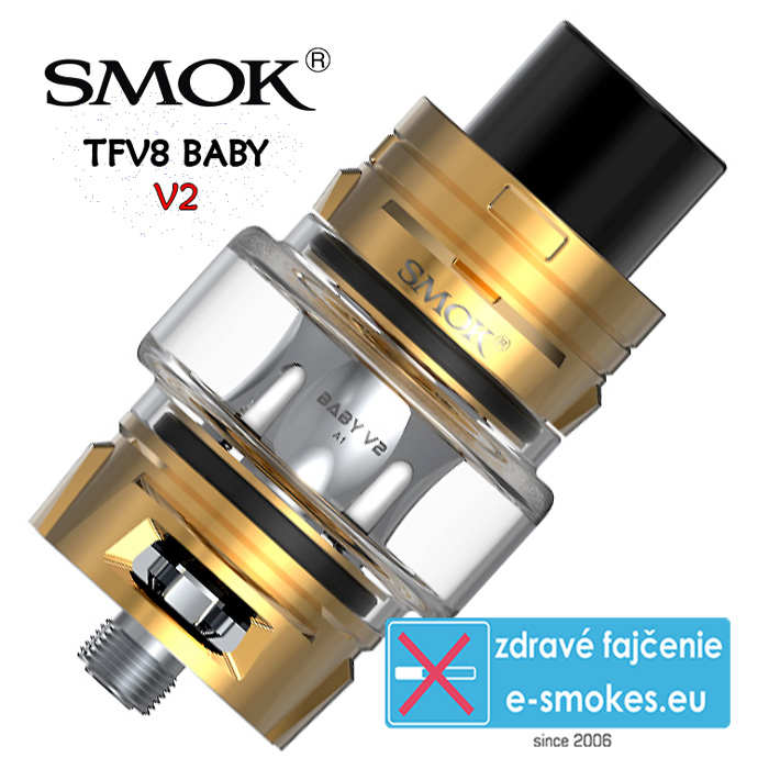 SmokTech TFV8 BABY V2 clearomizer 5ml - gold