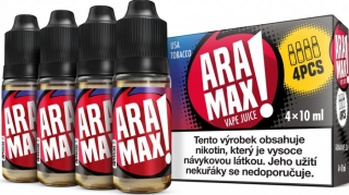 ARAMAX 4Pack USA Tobacco 4x10ml 18mg