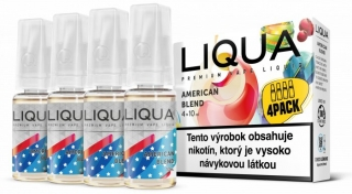 LIQUA Elements 4pack American Blend 4x10ml 6mg nikotínu