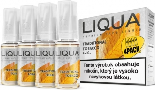 LIQUA Elements 4pack TRADITIONAL TOBACCO 4x10ml 12mg nikotínu