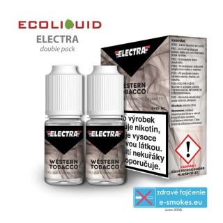 e-liquid Electra 2pack Western Tobacco 2x10ml 3mg