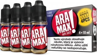 ARAMAX 4Pack Classic Tobacco 4x10ml 18mg