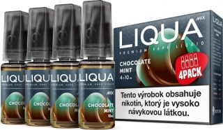 LIQUA Mix Chocolate Mint 4pack 10ml 6mg