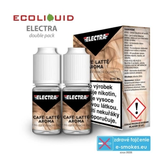 e-liquid Electra 2 pack Cafe Latte 10ml 0mg