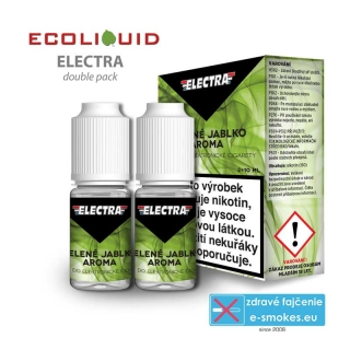 e-liquid Electra 2pack Green Apple 2x10ml 0mg
