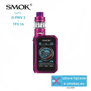 Smoktech full kit G-Priv 3 - Purple Red