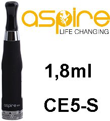 aSpire CE5-S BDC clearomizer 1,8 ml 1,8 ohm - čierny